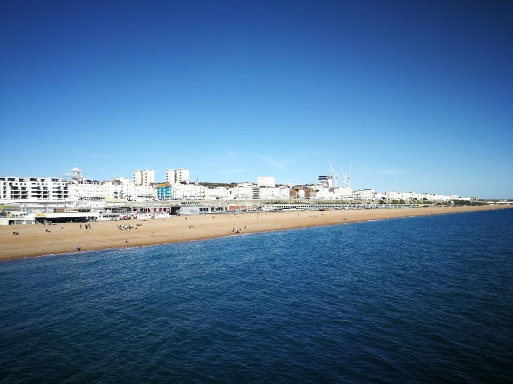 Sea, beach, buildings